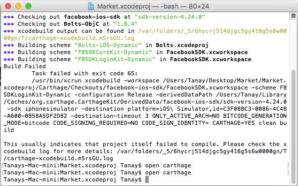 developers during building scheme got an error build failed during