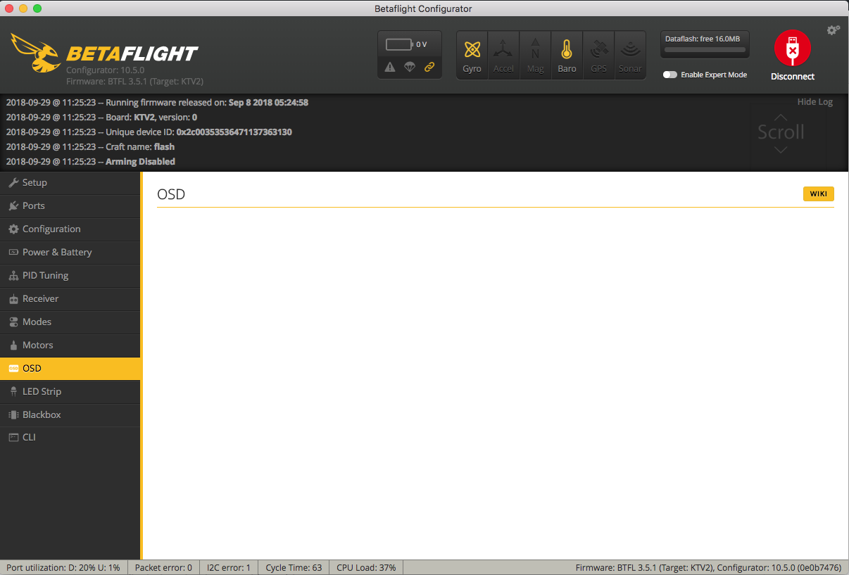 OSD does not show settings · Issue #1206 · betaflight