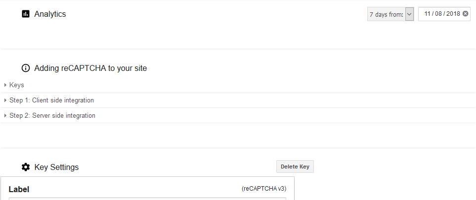 No Analytics on reCAPTCHA Admin · Issue #283 · google/recaptcha · GitHub