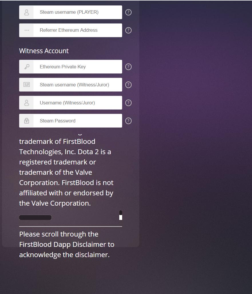 First Blood Dota 2 dApp · Issue #2 · Firstbloodio/dapp · GitHub