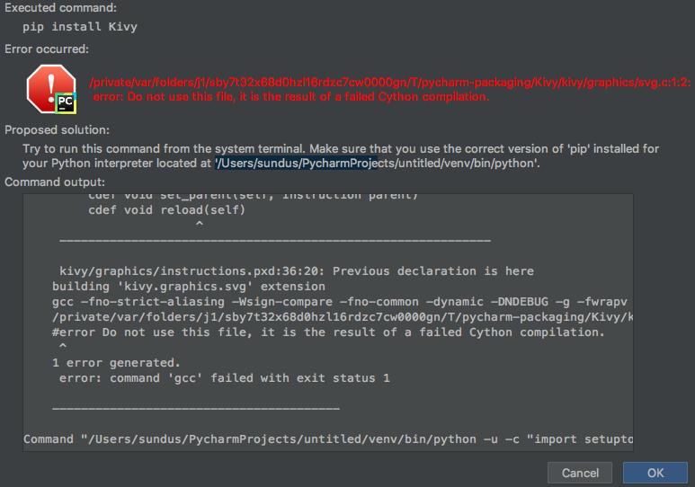 Kivy in pyCharm · Issue #682 · kivy/buildozer · GitHub