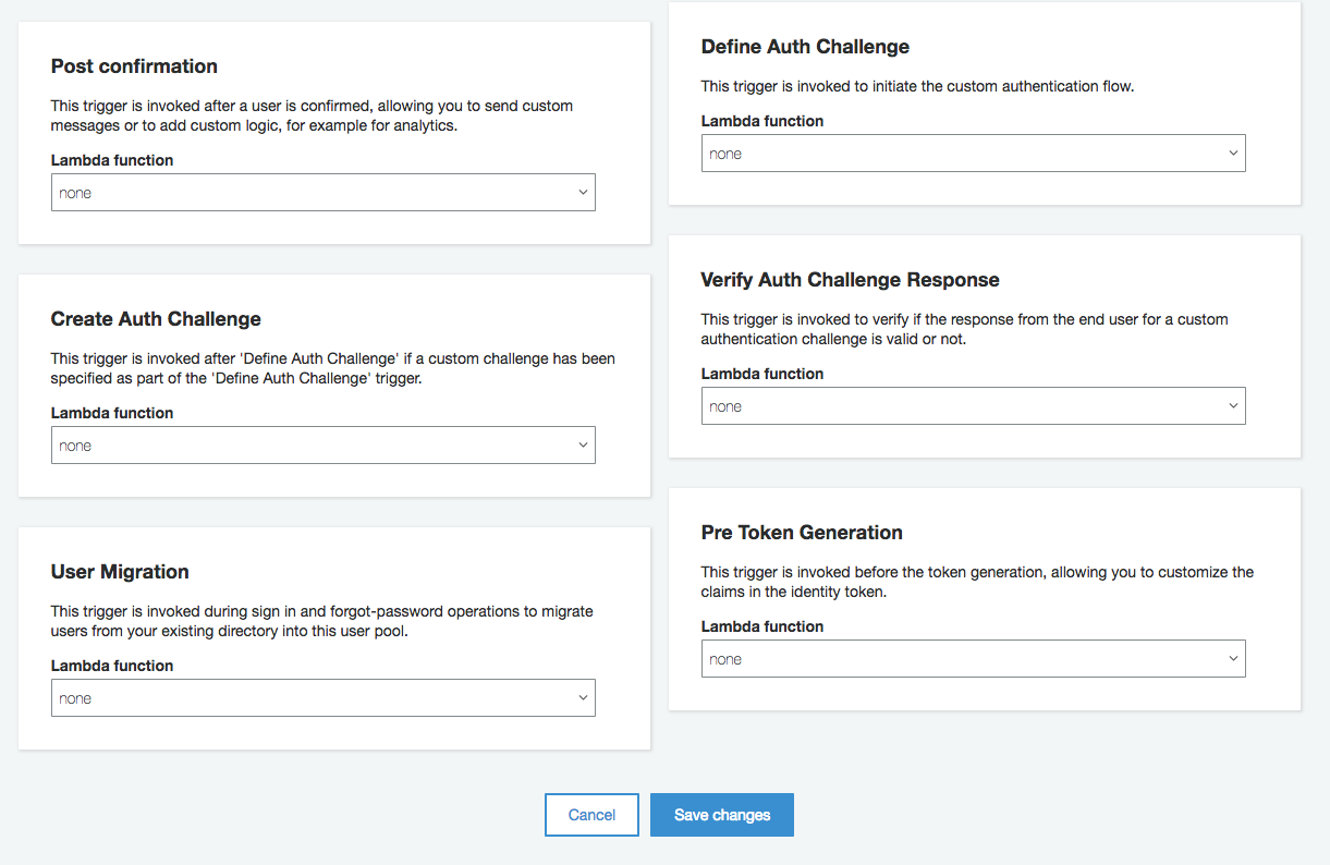 Support for lambda trigger AWS Cognito UserMigration · Issue