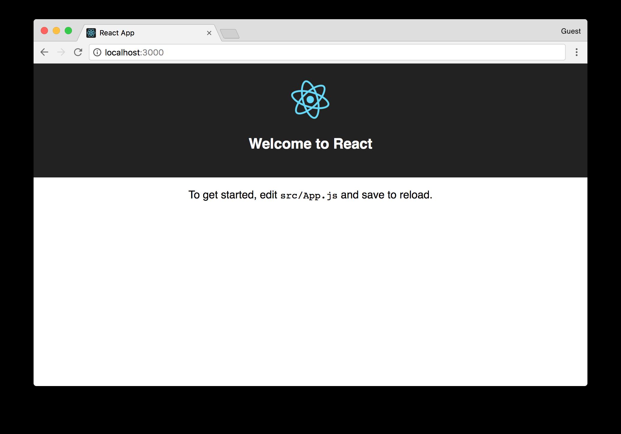 react app dev server