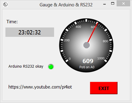 GitHub - Pi4IoT/Gauge-Python-Arduino: Read out the value of the