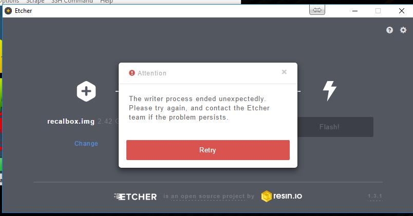 etcher recalbox
