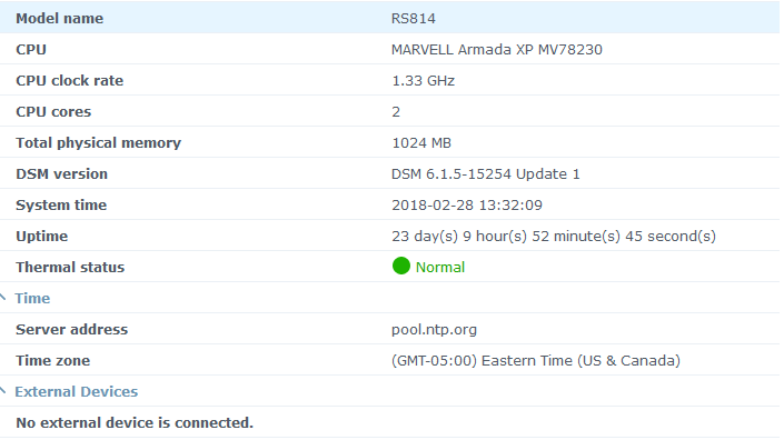 Zerotier on Synology RS814 won't go online or join network