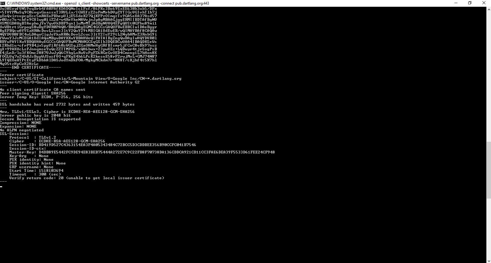 Handshake Error - Connection Verify Failed · Issue #32131 · dart ...