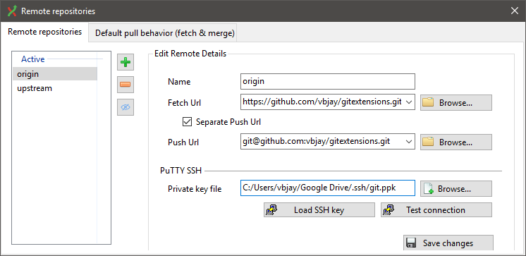 Git Extensions is a great tool but the credential management