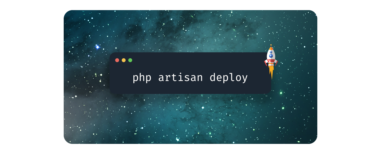 Console showing php artisan deploy