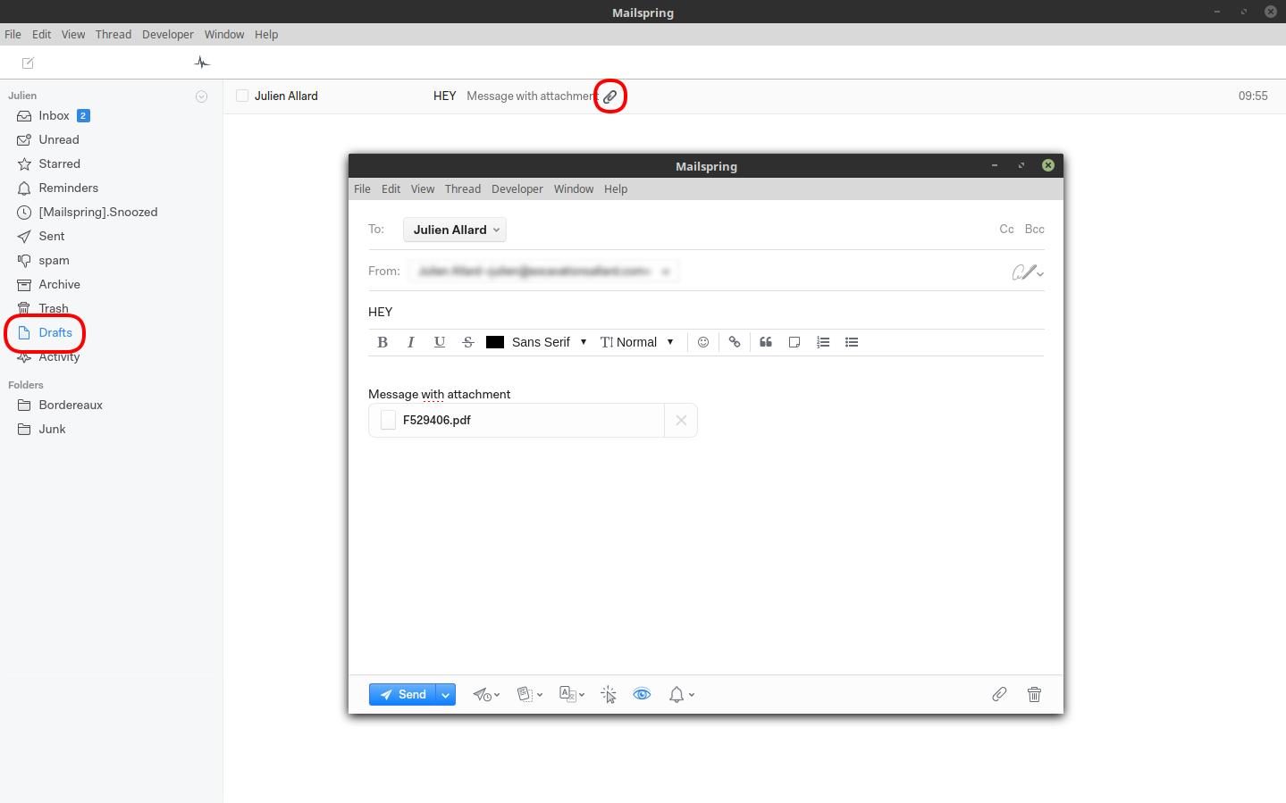No progressbar or alert or file attachment upload · Issue