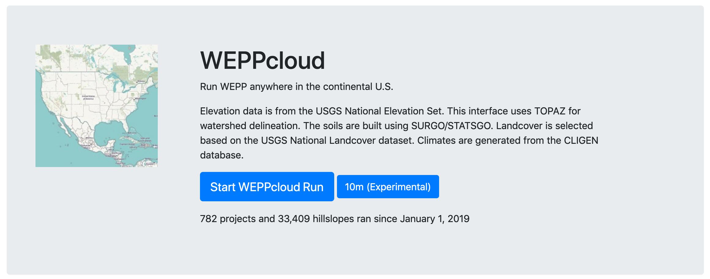 Start WEPPcloud Run