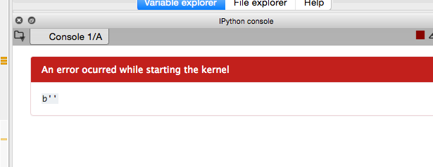 An error ocurred while starting the kernel: b'' · Issue