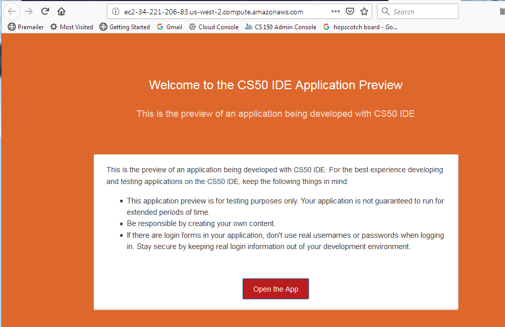 Web-Server Link Still Doesn't Seem to Work · Issue #19 · cs50/v4