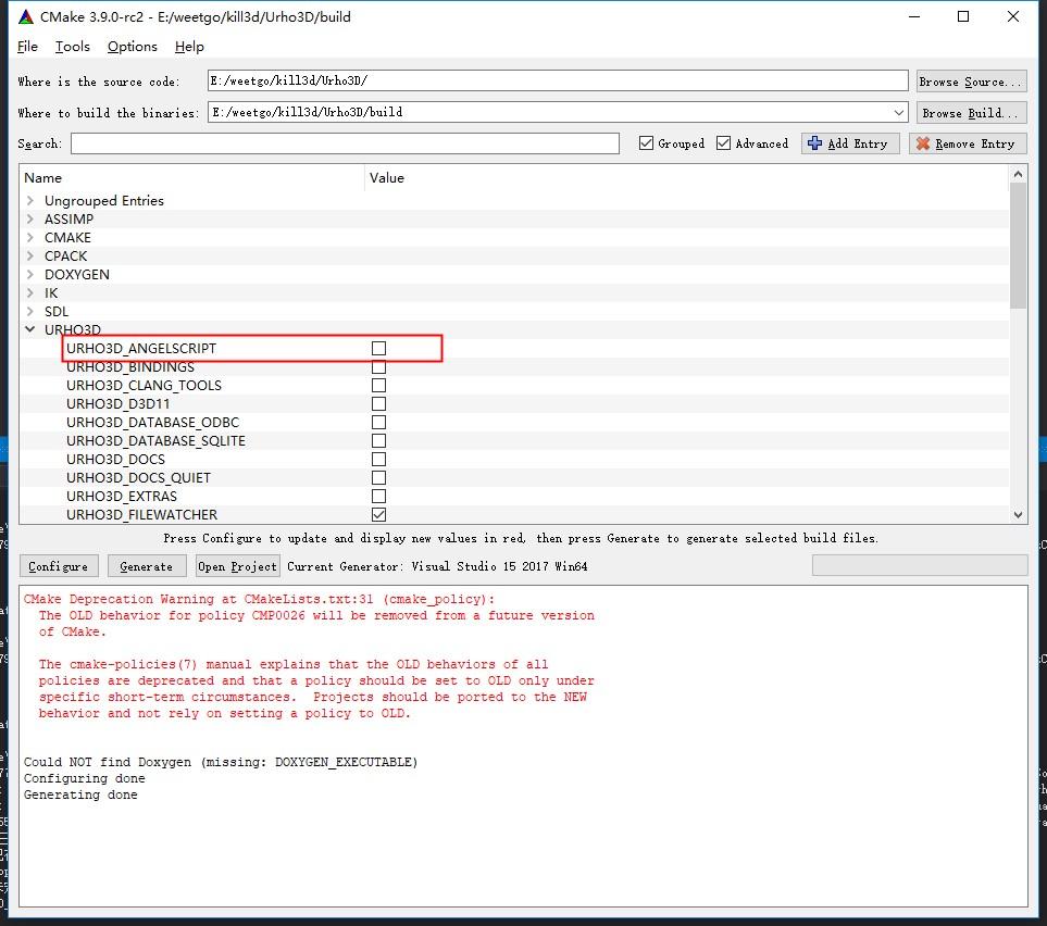 build broken on Windows · Issue #2362 · urho3d/Urho3D · GitHub
