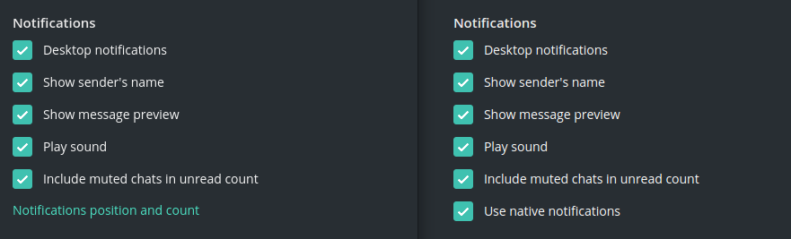 Flatpak'd app doesn't have option to