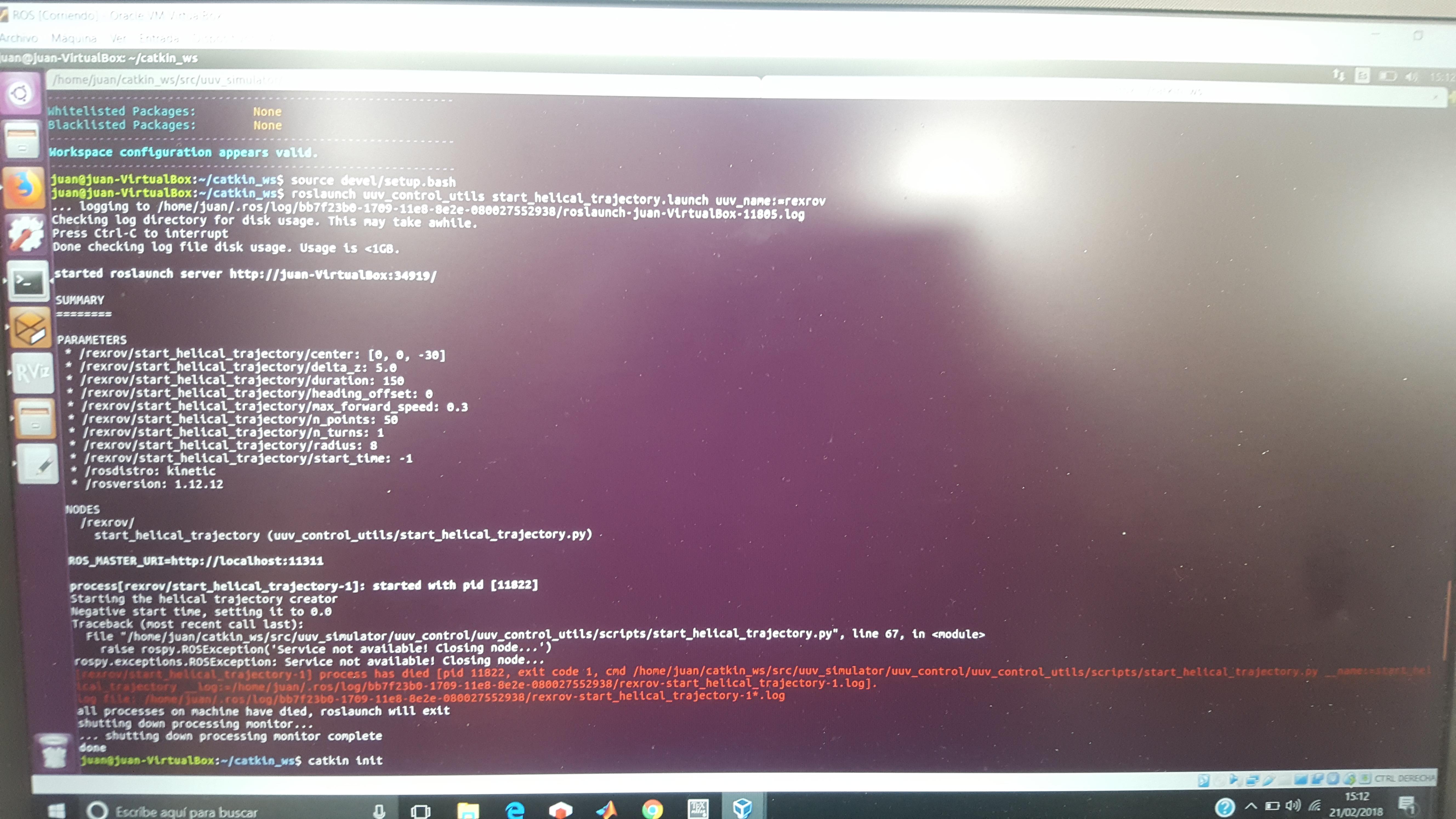 Problem running files described in