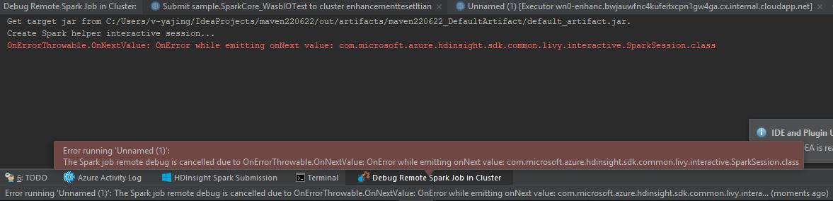 IntelliJ] Remote debug on spark 2 3 get errors · Issue #1804