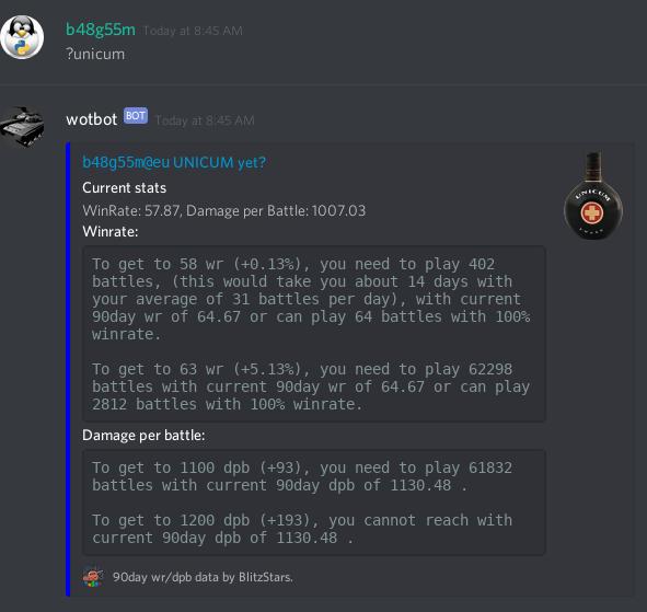 discord bot - wotbot - Off Topic - World of Tanks Blitz
