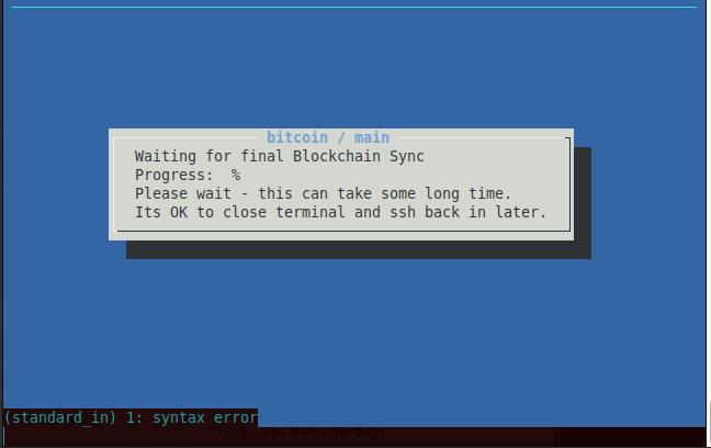 error code: -28 error message: Verifying blocks    · Issue #293