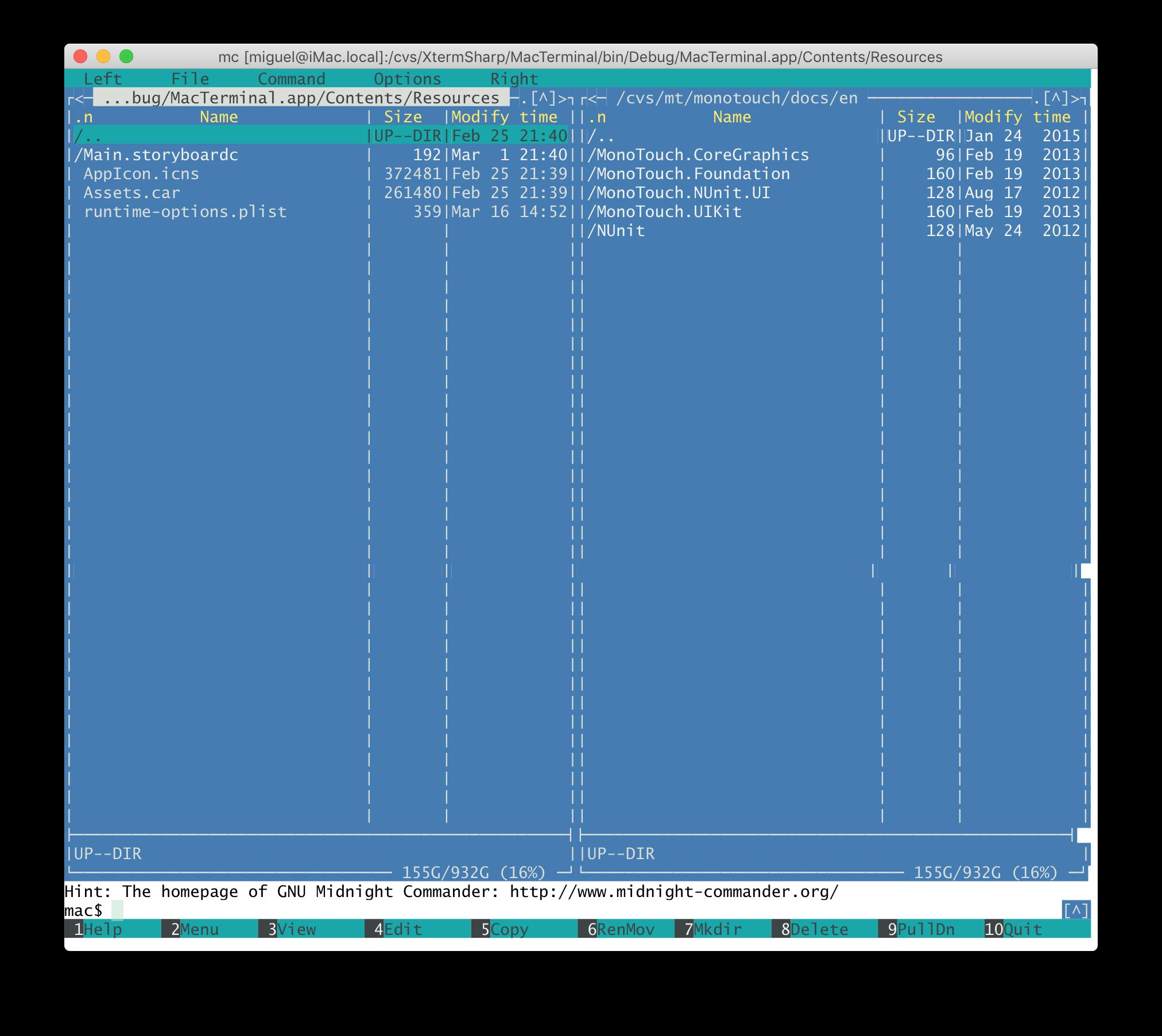 GitHub - migueldeicaza/XtermSharp: XTerm emulator as a  NET