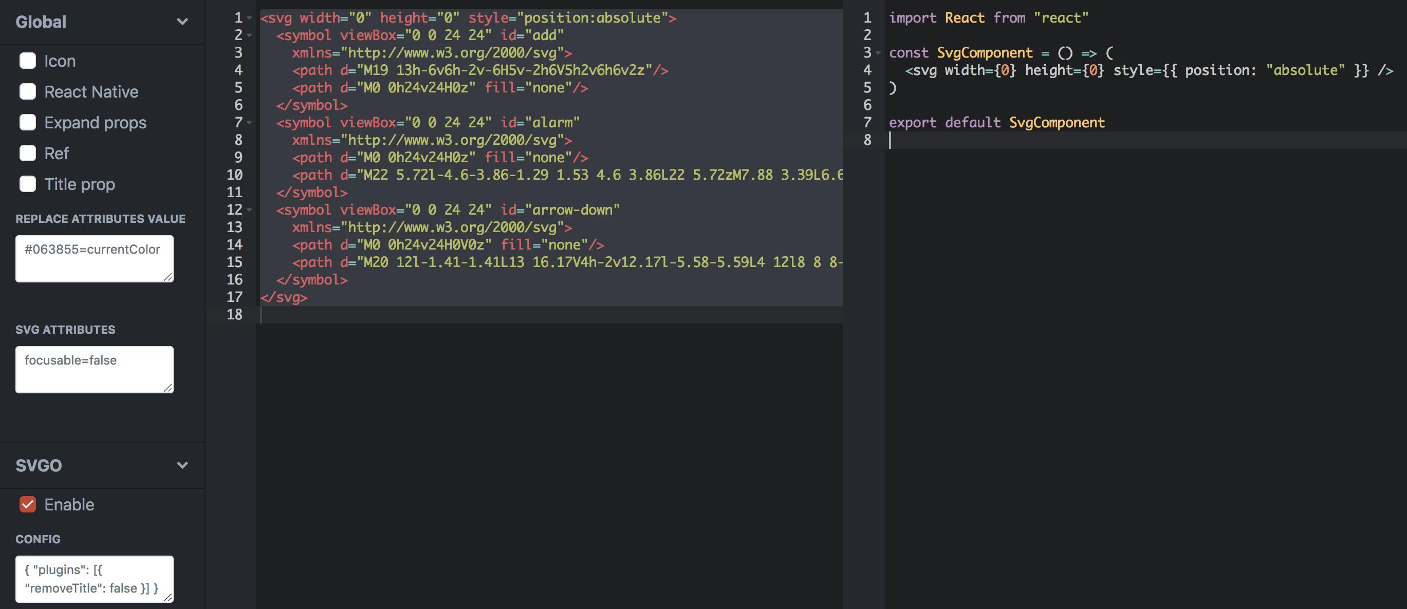 Upgrade webpack config to use @svgr/webpack loader · Issue