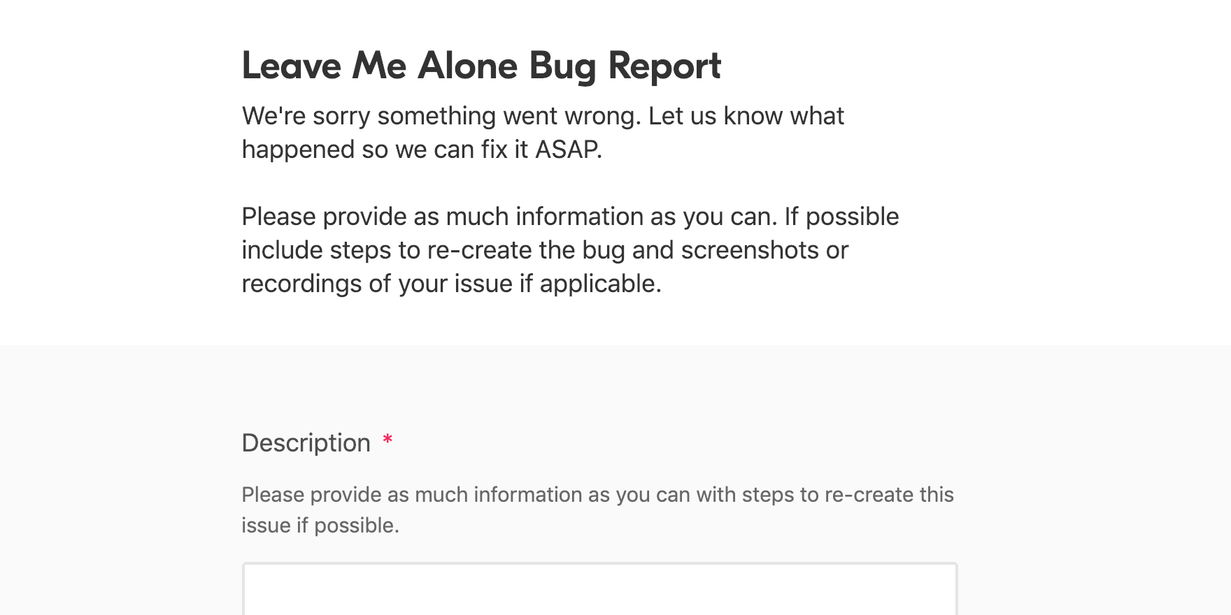 leave_me_alone_bug_report