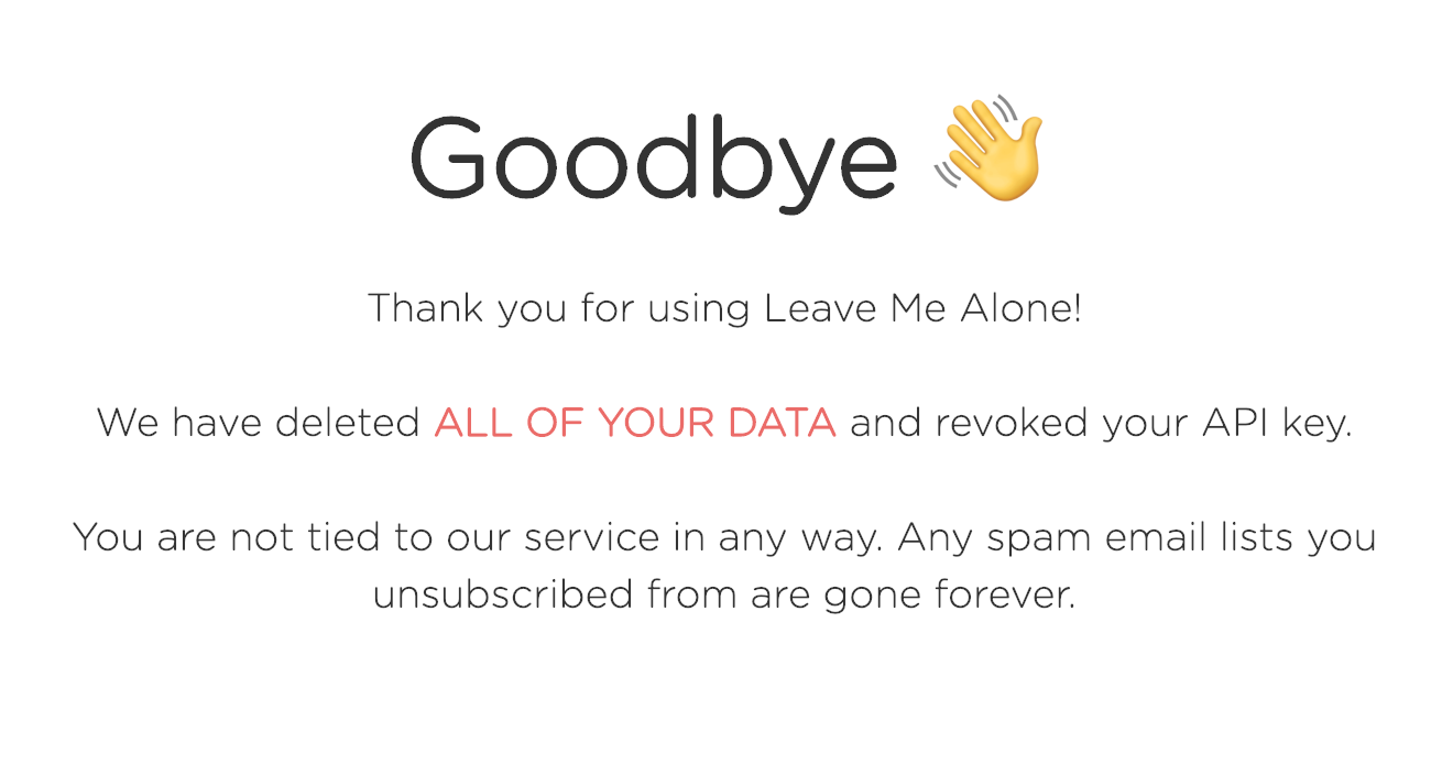 goodbye page