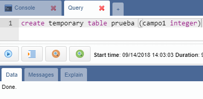 Error using temporary tables in query tab · Issue #702 · OmniDB