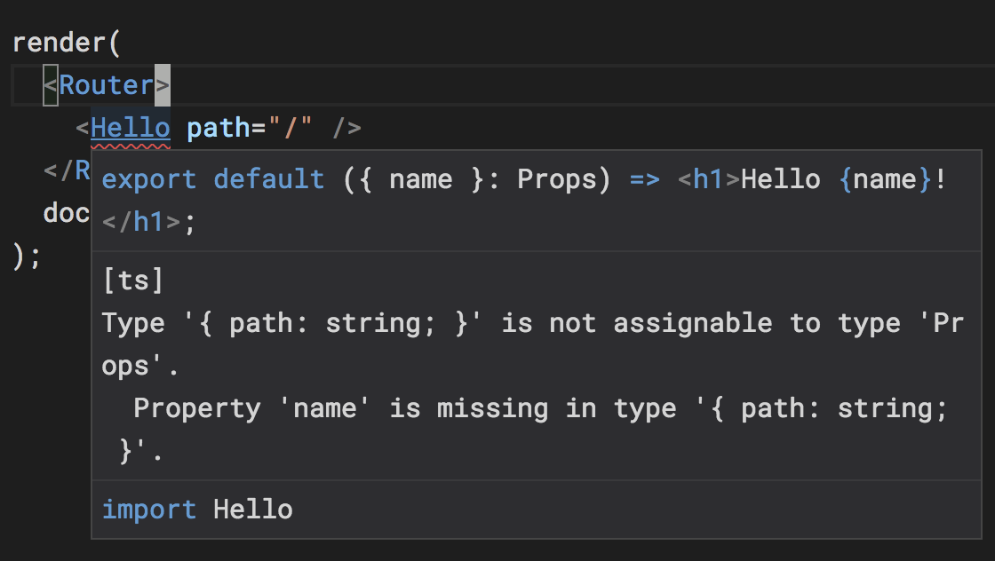 Reach Router and TypeScript: Property 'path' does not exist on type