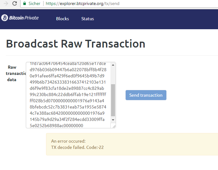 TX decode failed  Code:-22 · Issue #30 · Ayms/bitcoin