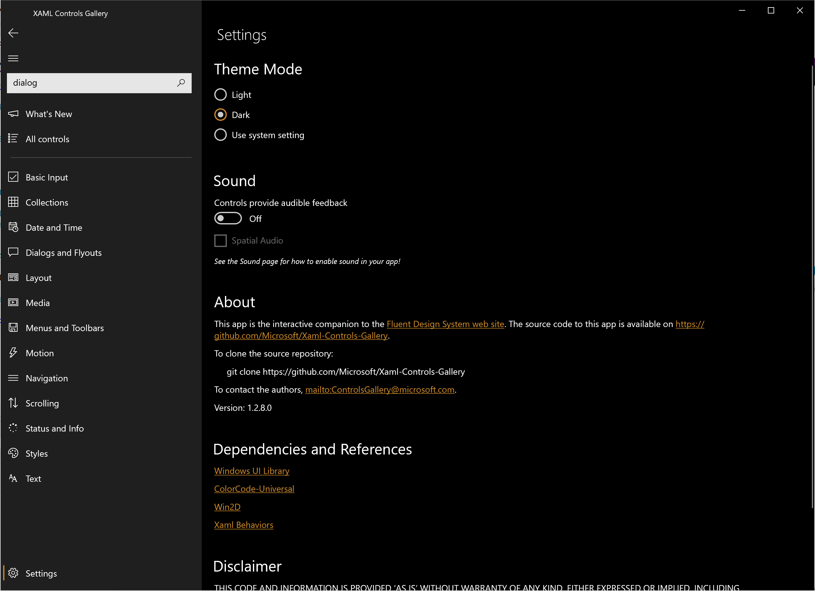Dark Theme for ContentDialog · Issue #126 · microsoft/Xaml