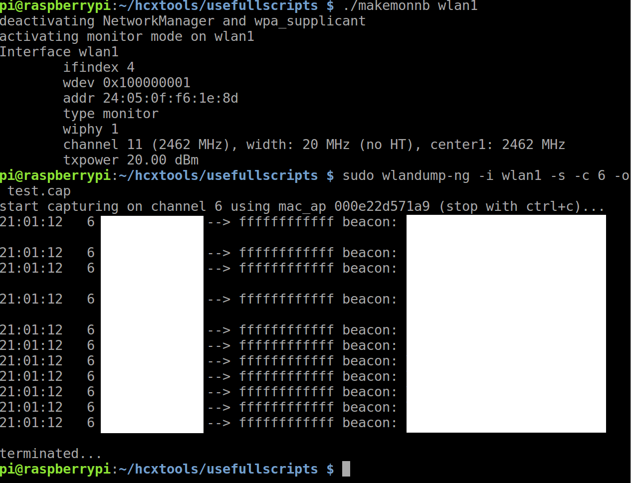 Raspberry pi terminates wlandump-ng · Issue #40 · ZerBea