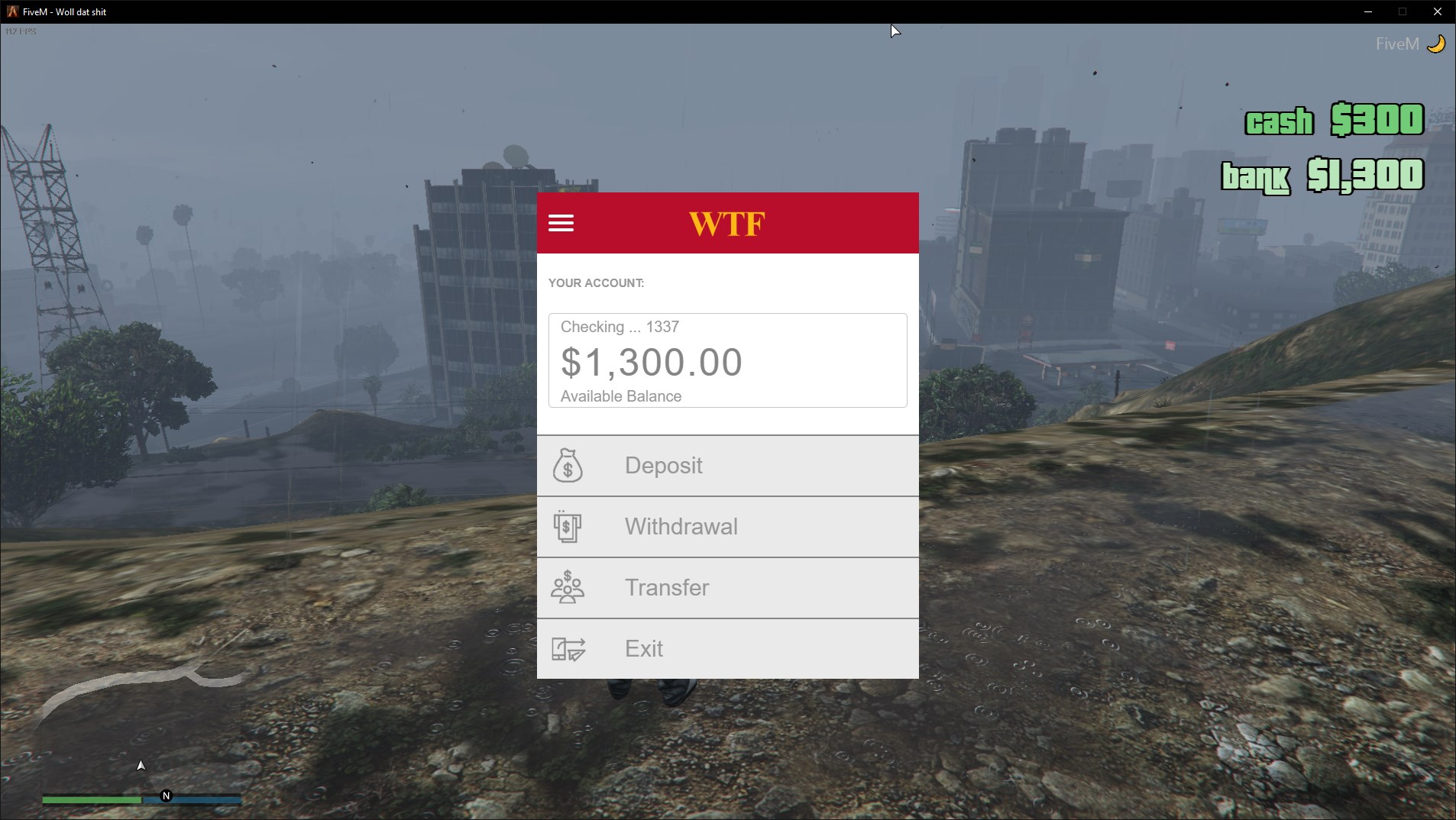GitHub - wtf-fivem-mods/wtf_banking: WIP: FiveM banking and money
