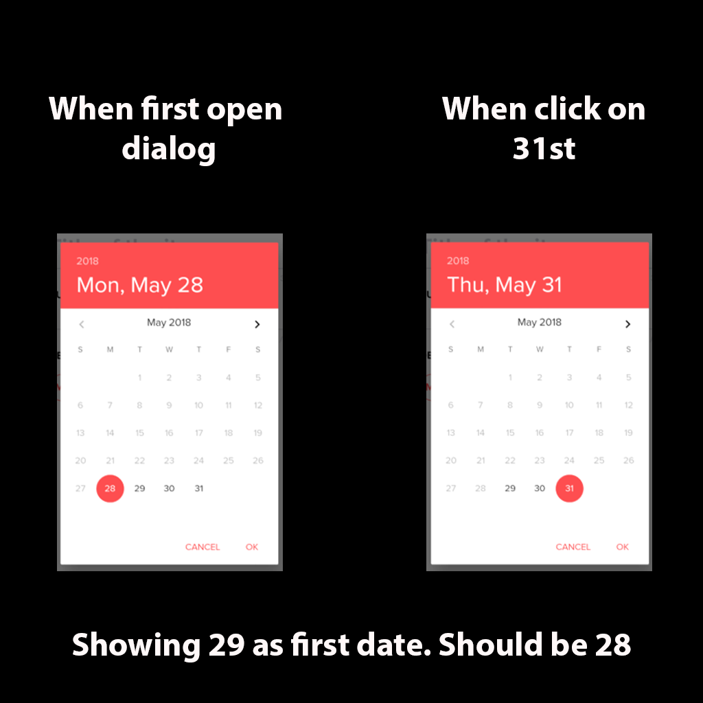 DatePicker goes one day ahead · Issue #17971 · flutter