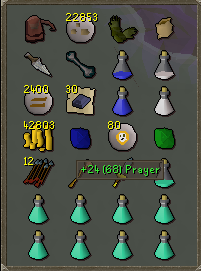 Prayer potion overlay does not factor in holy wrench · Issue