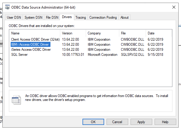 Using node-odbc on Windows to talk to IBM i · Issue #25