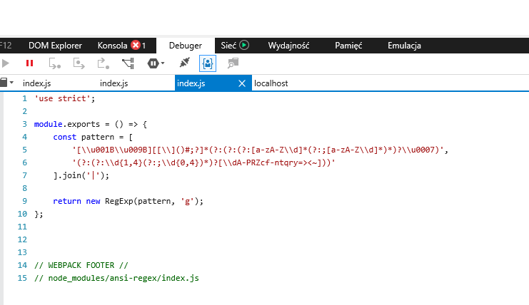 Application crashes on IE11 and lower, Syntax error · Issue
