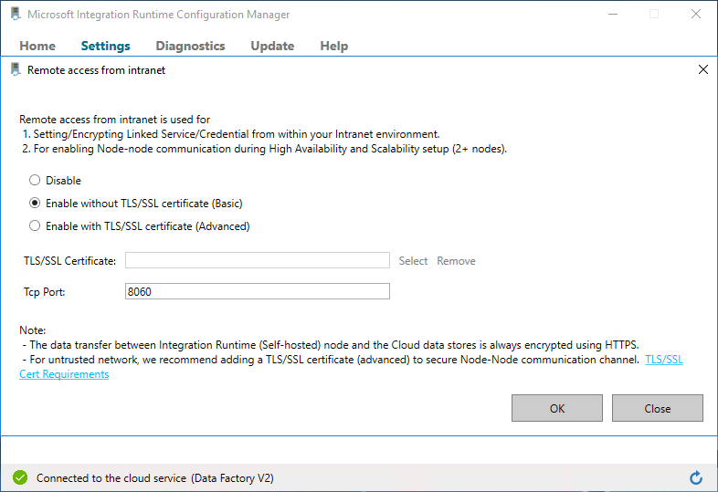 Clarification of TLS/SSL certificate requirements? · Issue