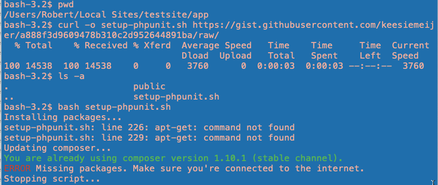 setup-phpunit_sh_script_failed_to_install_in_local_lightening