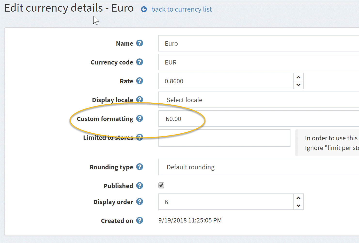 Currency Symbol For Eur On Fresh 410 Is Wrong Issue 3307