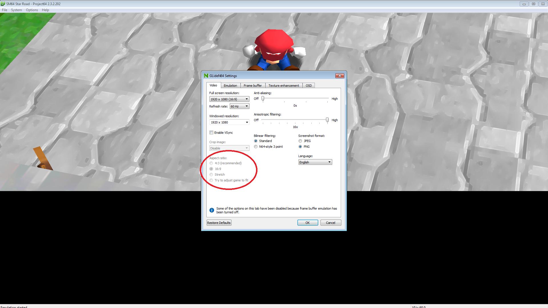 Super Mario Star Road: Black Screen Issue (Frame Buffer
