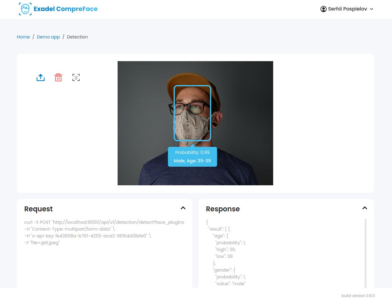 compreface-recognition-page