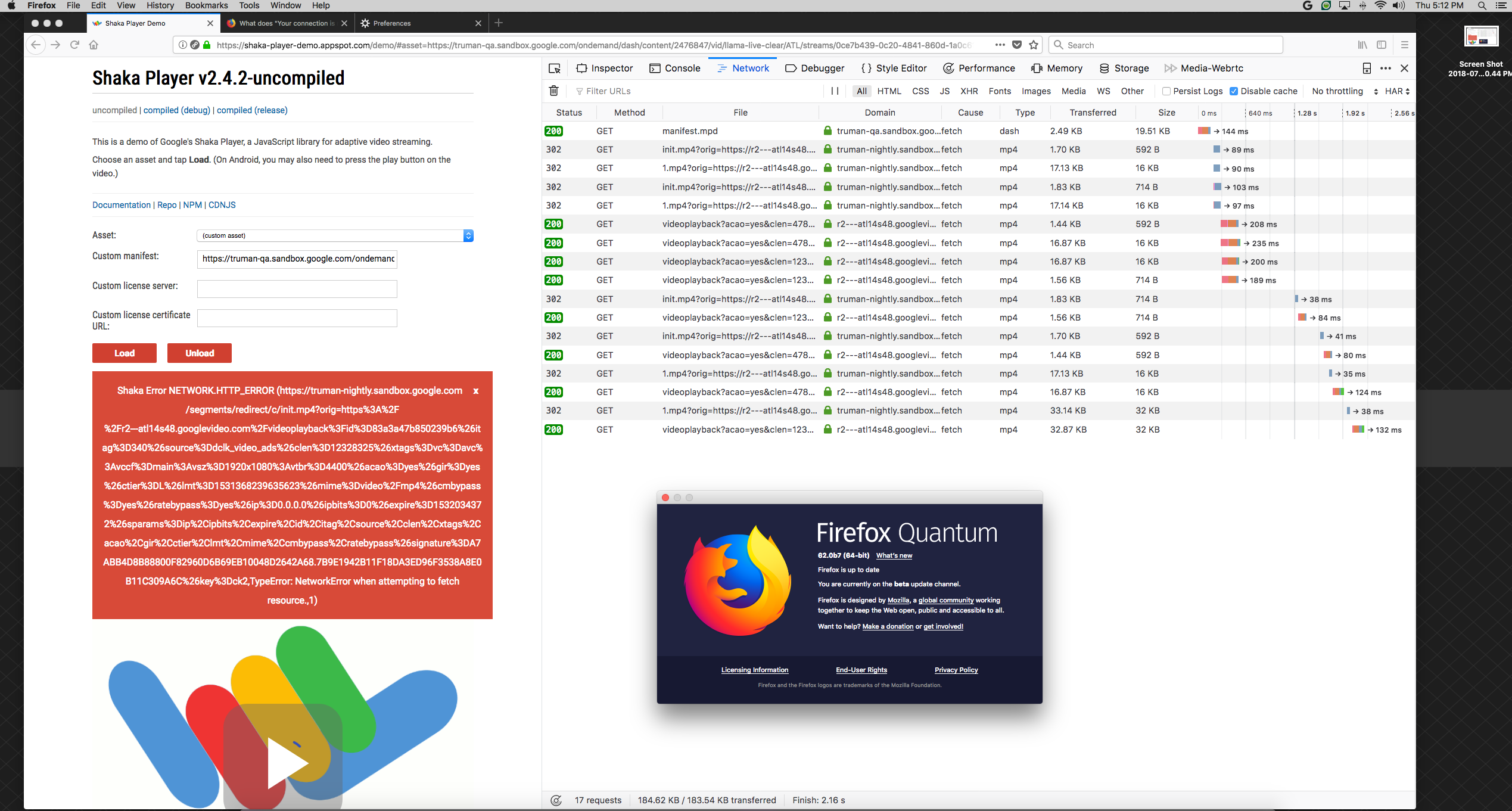 CORS issues with Latest Firefox · Issue #1476 · google/shaka-player