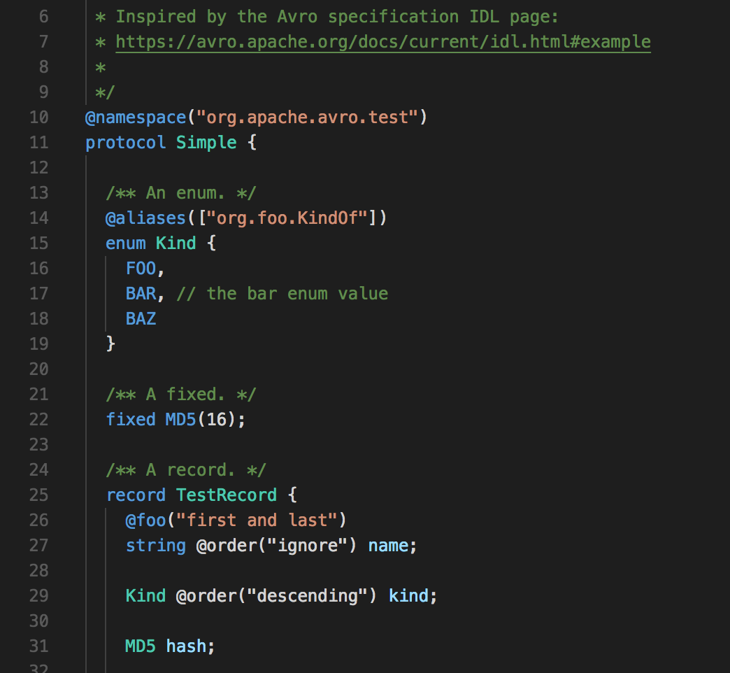 GitHub - Jason3S/vscode-avro-ext: VS Code Language Support