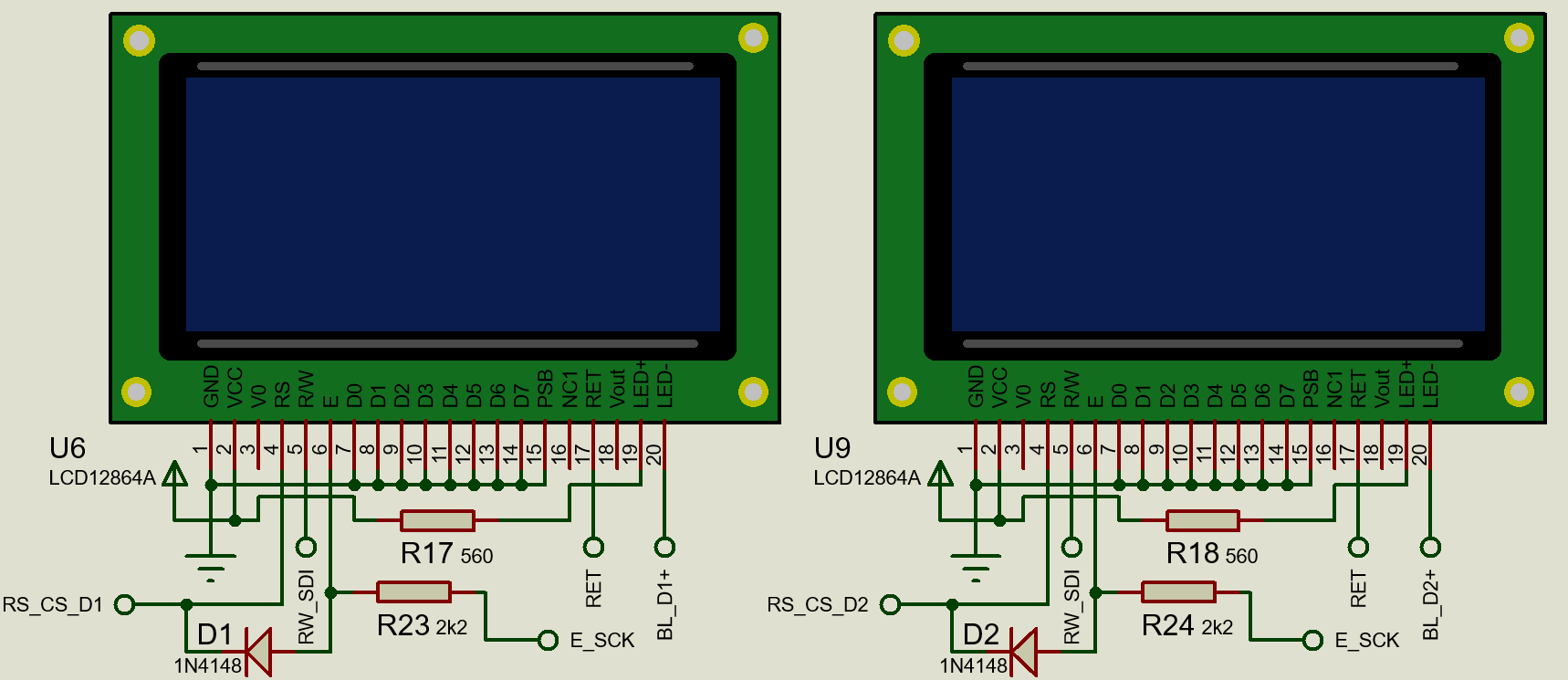 Work around for glitches on a 128x64 ST7920 display · Issue
