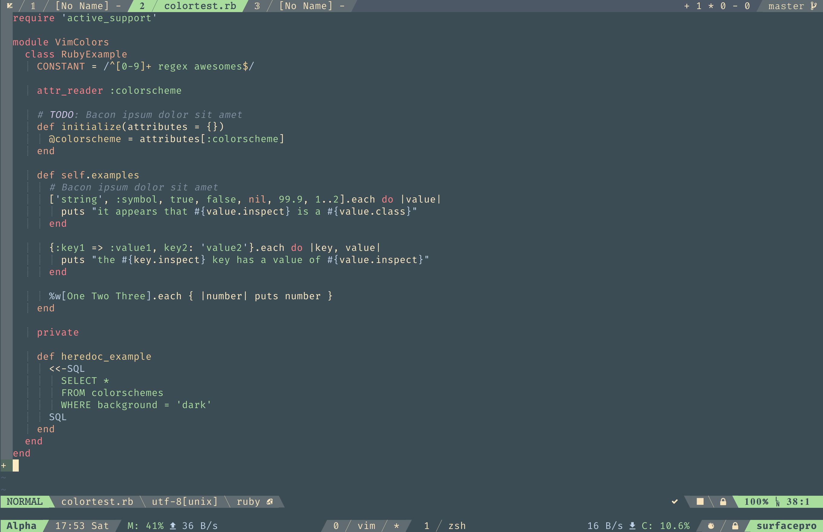 vim-color-forest-night - Vim Awesome