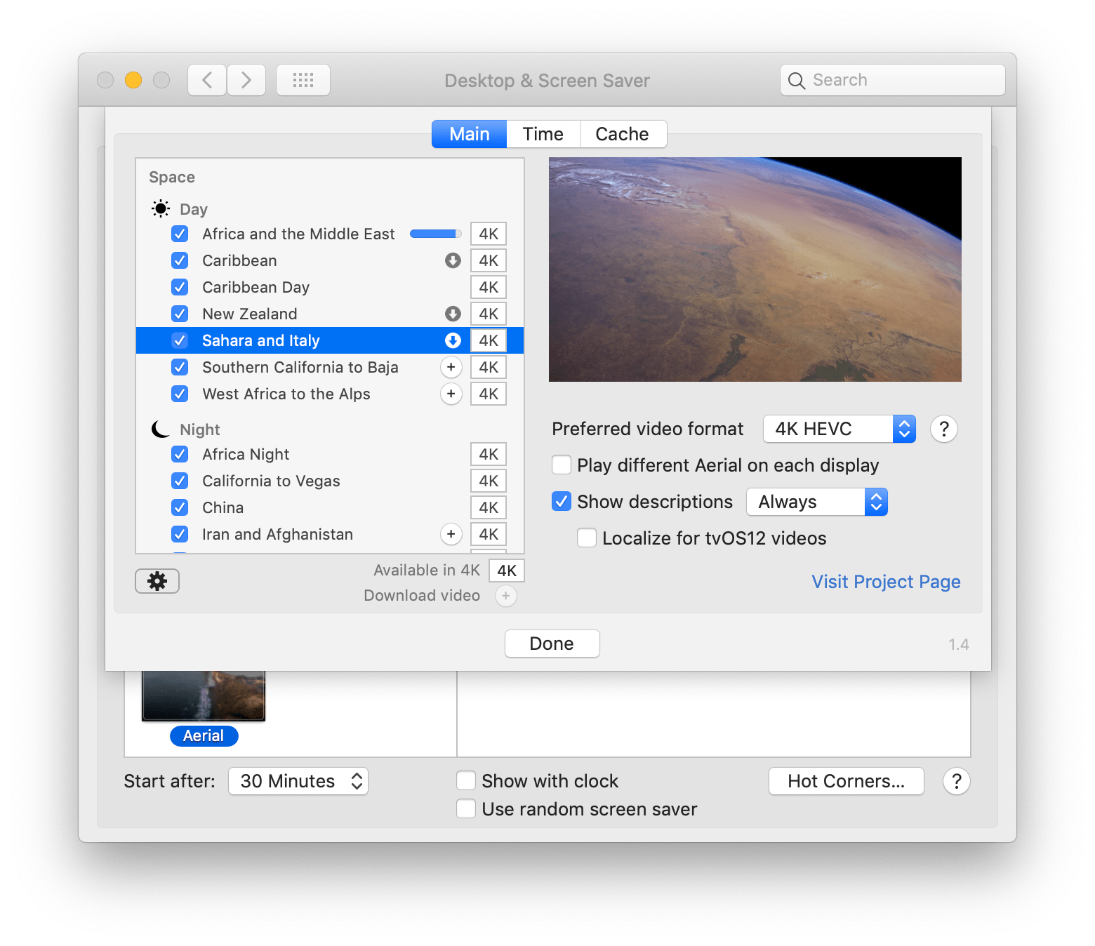 Displaying extra descriptions on space video (international