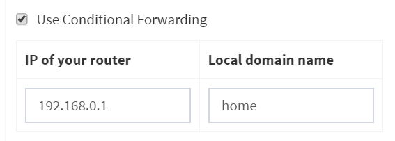 Conditional Forwarding doesn't determine the names of all