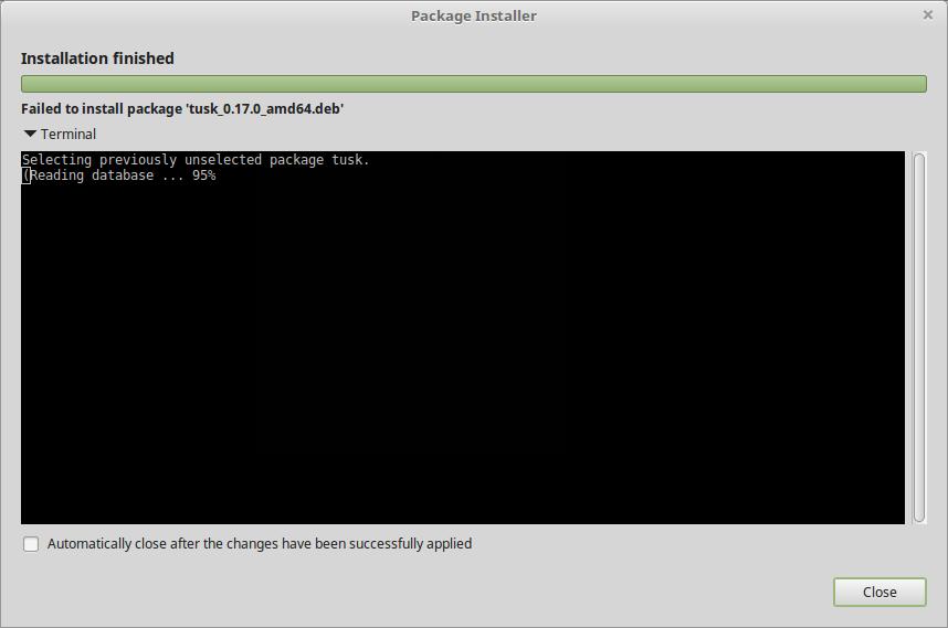 0 17 0 deb install fails · Issue #147 · klaussinani/tusk