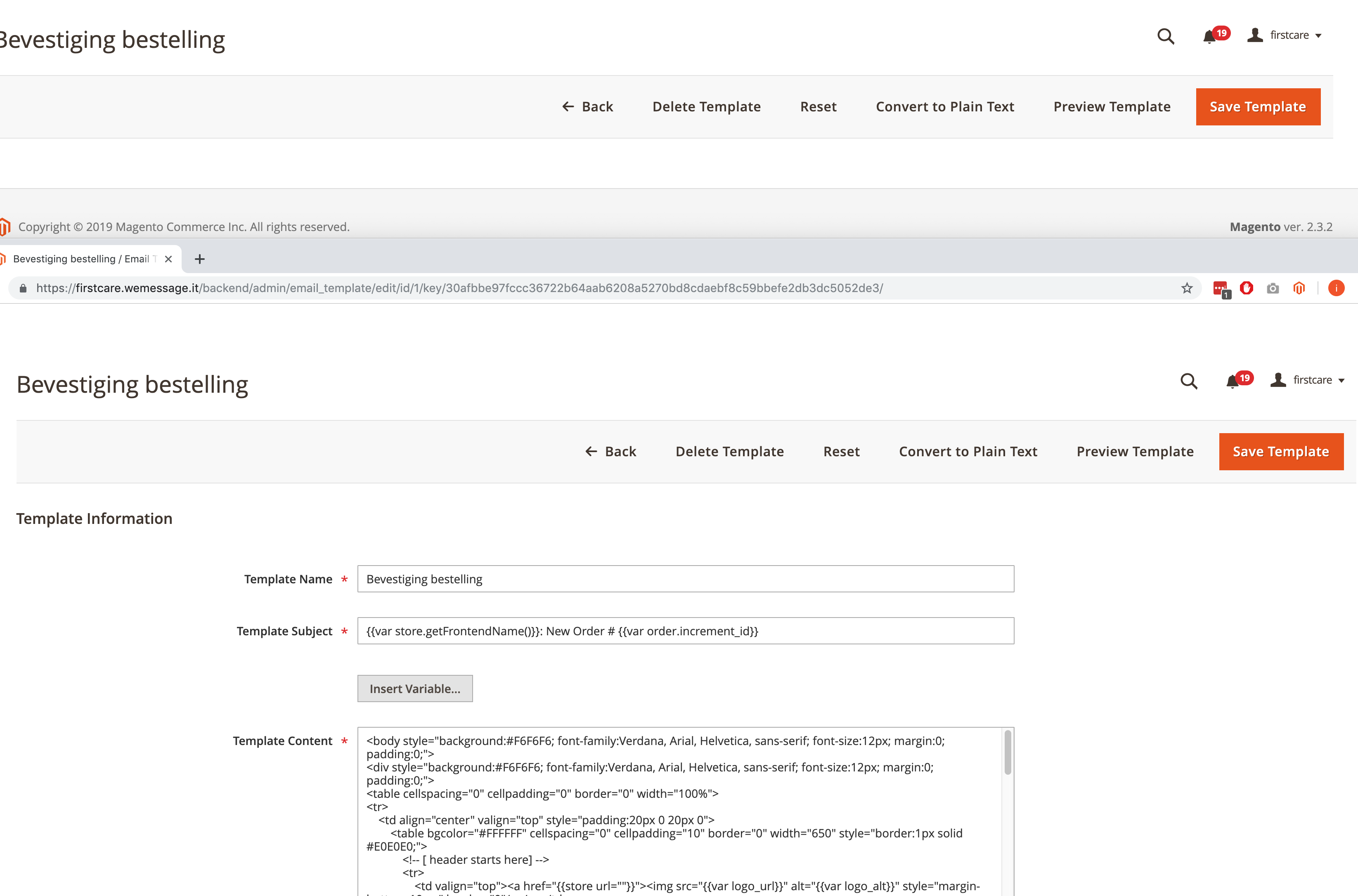 Magento 2 3 2 email templates not editable · Issue #23876
